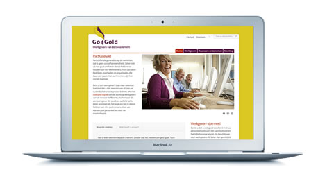Website ontwerp -  Go4Gold