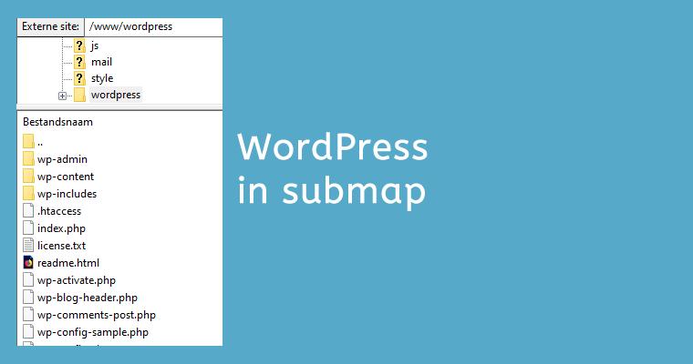 WordPress installeren in een submap
