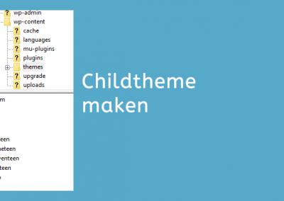 Zelf een child theme maken