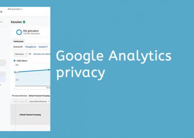 Google Analytics privacyvriendelijk instellen
