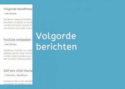 Volgorde WordPress berichten aanpassen