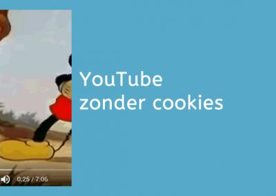 YouTube embedden zonder cookies