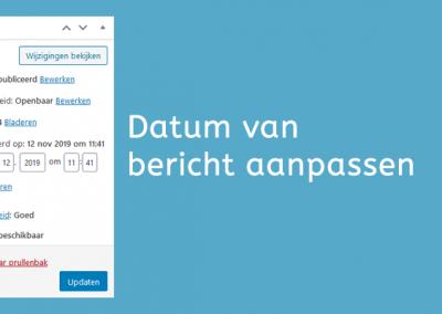 WordPress datum van artikel of bericht aanpassen